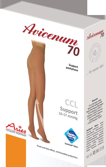ARIES Rajstopy profilaktyczne Avicenum 70 (10-17 mmHg) -  NOWE KOLORY