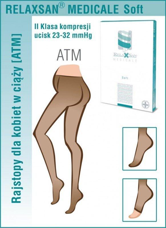 RELAXSAN Rajstopy medyczne ciążowe II Klasa Ucisku 23-32 mmHg - Linia Medicale Soft