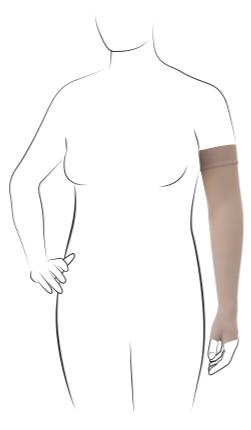 Thuasne VENO ELEGANCE rękaw uciskowy samonośny z częścią na dłoń CCL2