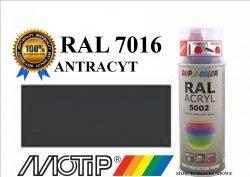 Lakier farba antracyt półmat 400 ml akrylowy acryl szybkoschnący RAL 7016