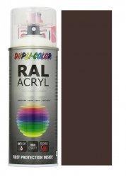 MOTIP lakier brąz czekoladowy farba połysk 400 ml akrylowy acryl szybkoschnący RAL 8017