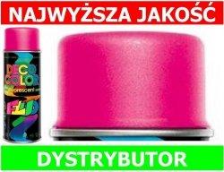 Lakier farba fluorescencyjny fluo spray różowy 400 ml