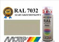 Lakier farba szary krzemionkowy połysk 400 ml akrylowy acryl szybkoschnący RAL 7032