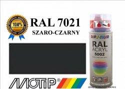 Lakier farba szaro czarny połysk 400 ml akrylowy acryl szybkoschnący RAL 7021