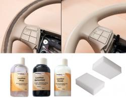 Zestaw farb do renowacji kierownicy skóry tapicerki