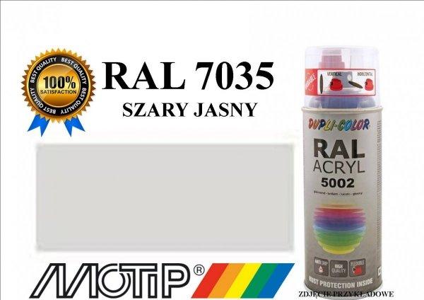 Lakier farba szary jasny połysk 400 ml akrylowy acryl szybkoschnący RAL 7035