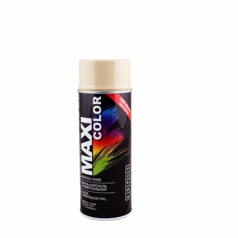 Beżowy lakier farba spray maxi RAL 1001 emalia uniwersalna 400 ml