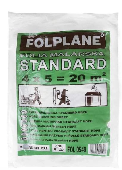 Folia malarska ochronna zabezpieczająca cienka 4m x 5m