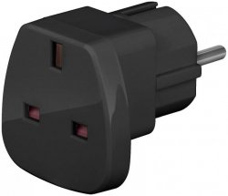 Techly Adapter zasilania UK/EU 13A, UK/BS - CEE 7/7