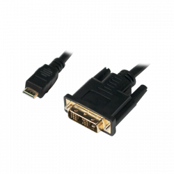 LOGILINK - Kabel mini HDMI do DVI-D M/M,1m