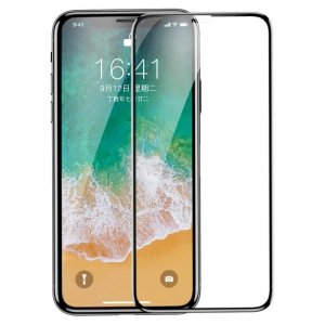 Baseus Tempered Glass Film szkło hartowane 0,3 mm iPhone 11 Pro / iPhone XS / iPhone X czarny (SGAPIPHX-KE01)