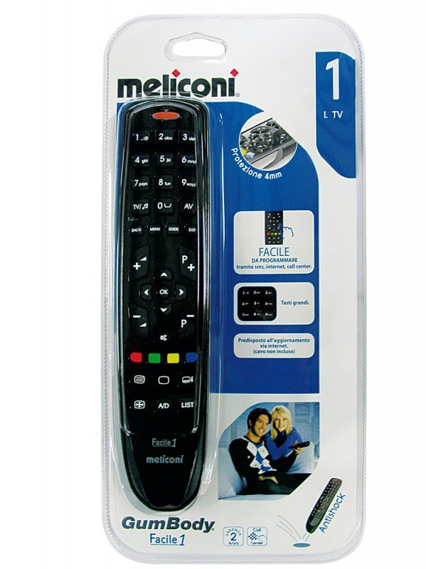 Uniwersalny pilot do TV Meliconi Gumbody Facile