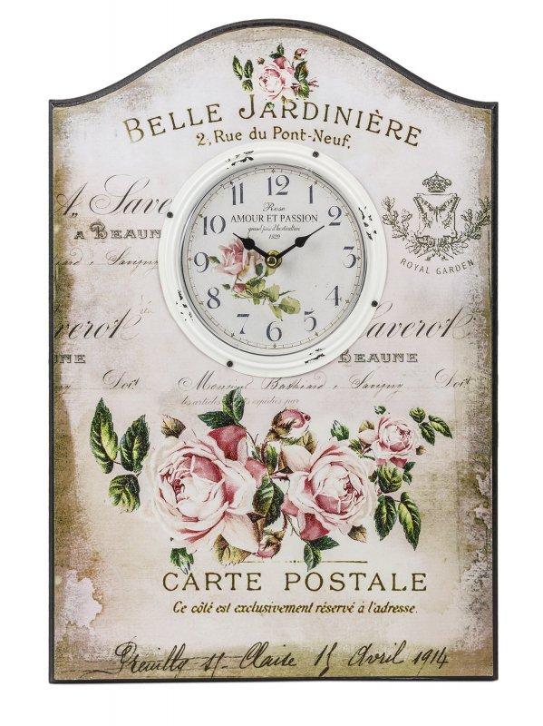 Zegar ścienny retro kwiaty