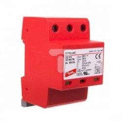 Ogranicznik przepięć C Typ 2 PV 600V DC 3P 12,5kA 2,5kV DEHNguard compact YPV SCI 600 FM 950536