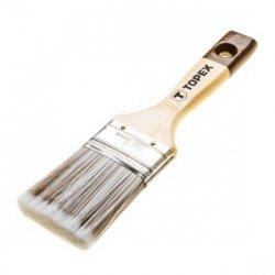 Pędzel płaski do drewna 1cala uchwyt drewniany włosie mieszane do bejc lakierobejc impregnatów 20B951