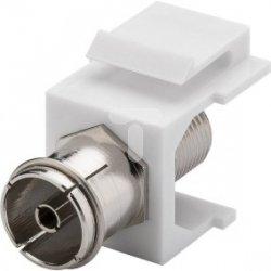 Keystone moduł SAT/antena - gniazdo IEC  >  gniazdo F 79936