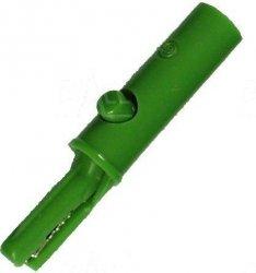 Krokodylek bezp. gn. 4mm KK1-GN 60V=/30V~ 3A