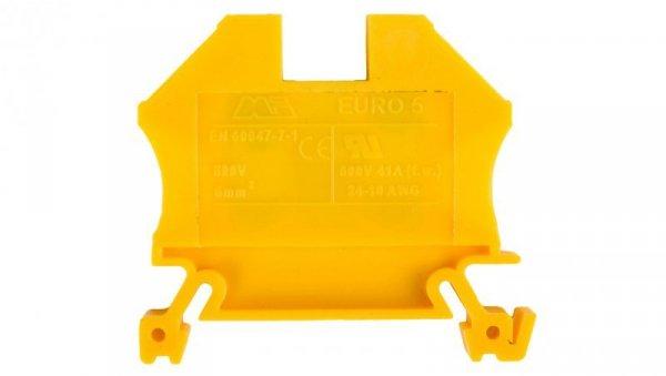 Złączka szynowa gwintowa ZSG ( ZUG ) 6,0mm2 zółta mini 43407N