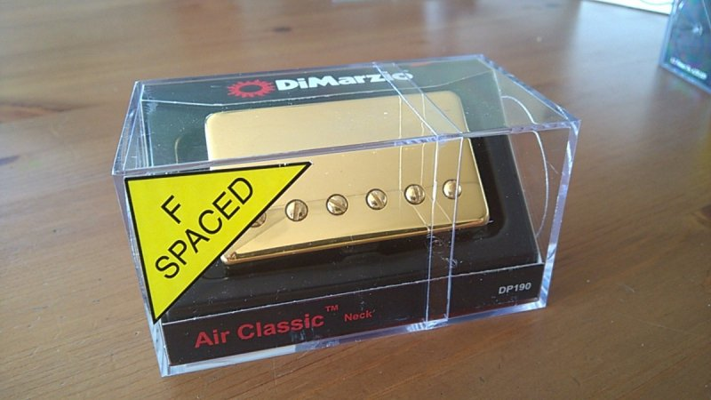 Dimarzio Air Classic Neck DP190 GOLD F Spaced