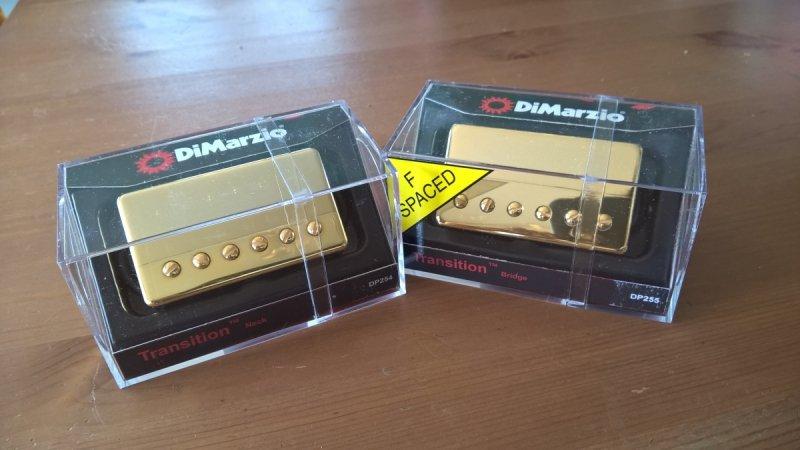 DiMarzio Transition Neck + Bridge GOLD