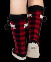 Moose Plaid Mukluk - Ponožky do bačkor - LazyOne