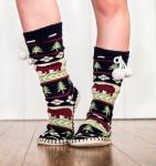 Bear Fair Isle Mukluk - Ponožky do bačkor - LazyOne