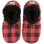 Moose Plaid Fuzzy Feet - Papcie - LazyOne