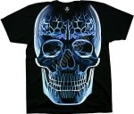 Glass Skull - Liquid Blue