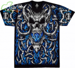 Blue Flame Skull - Liquid Blue