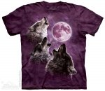 Three Wolf Moon in Purple - The Mountain