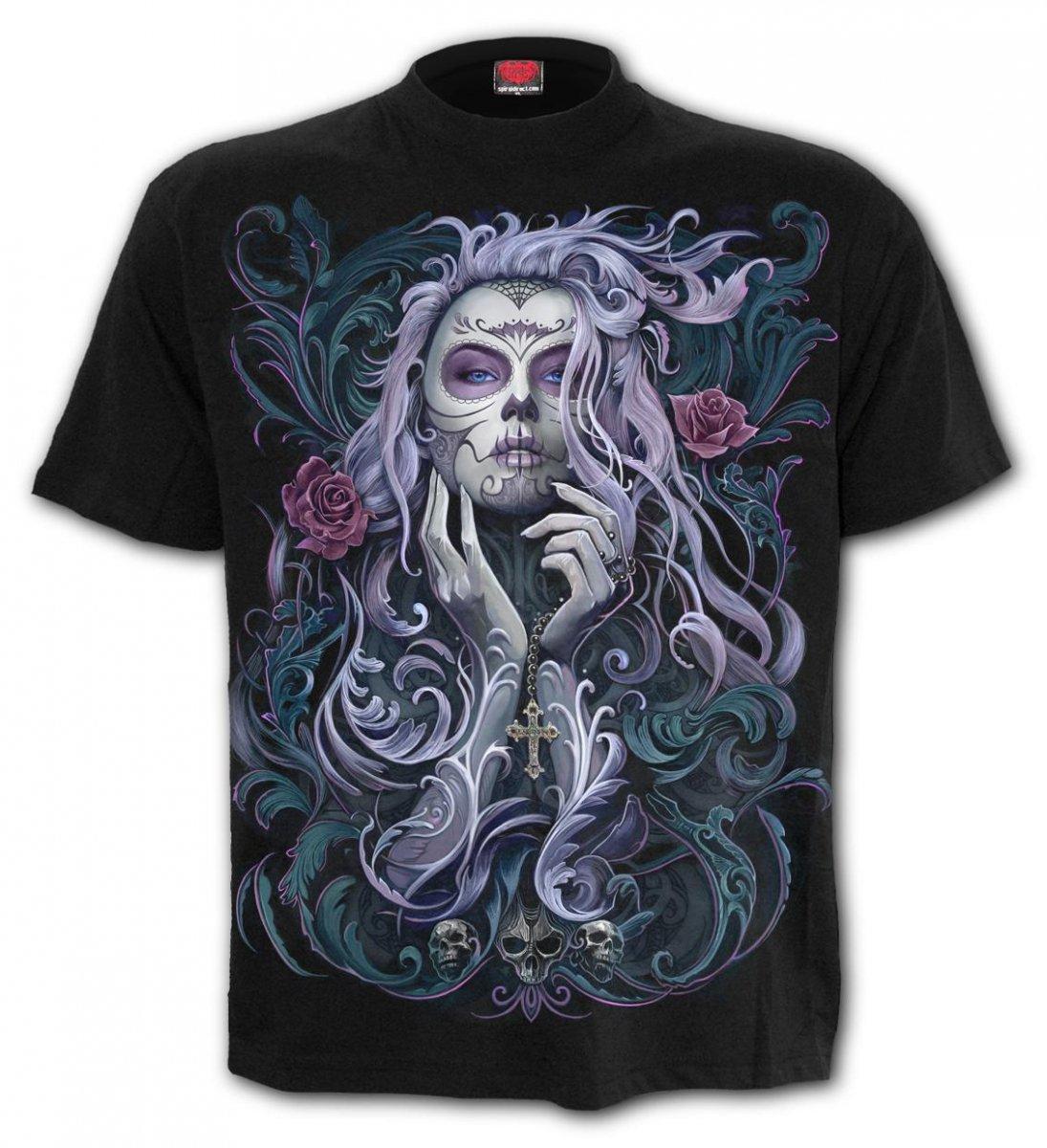 5a1f577bbab4b5 Sklep veoevo.pl - Koszulki Malowane Pazurem - Rococo Skull - Spiral ...