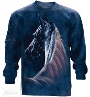 Patriotic Horse - Long Sleeve The Mountain