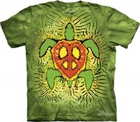 Tie Dye Rasta Peace Turtle - The Mountain