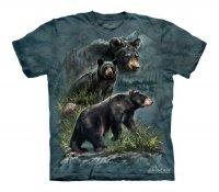 Three Black Bears - The Mountain - KoszulkaDziecięca