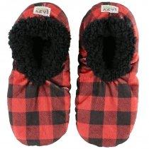 Moose Plaid Fuzzy Feet - Papučky - LazyOne