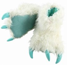 White Yeti Paw Slippers - Bačkory LazyOne