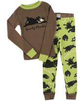 Boys Bearly Awake - Pyžamo dětské dlouhý rukáv – LazyOne