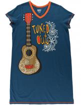 Tuned Out Guitar Nightshirt - Noční košilka - LazyOne