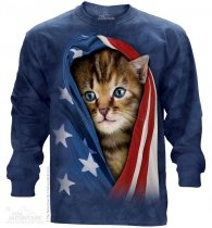 Patriotic Kitten - Long Sleeve The Mountain