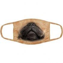 Pug Pet Dog - 3 vrstvé Rouška