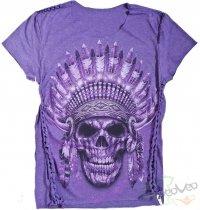 Native American Purple - Ladies Cool Skullz