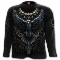 Raven Skull - Longsleeve Spiral