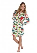 Pattern Moose Flannel Nightshirt - Koszula nocna - LazyOne
