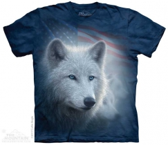 Patriotic White Wolf - The Mountain