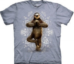 Namaste Sloth Yoga Grey - The Mountain