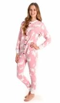 Classic Moose Pink Flapjack - Piżama Pajac - LazyOne