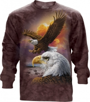 Eagle And Clouds - Long Sleeve The Mountain