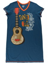 Tuned Out Guitar Nightshirt - Koszula Nocna - LazyOne