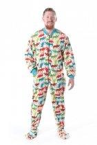 Pattern Moose Footie - Piżama Śpiochy - LazyOne