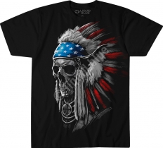 USA Chief Skull - Liquid Blue